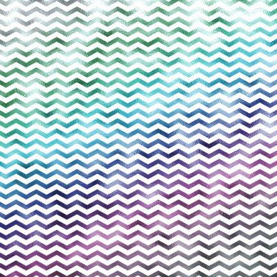 Cuadro Arco Iris Metálico Faux Foil Chevron Pattern Chevrons Textur
