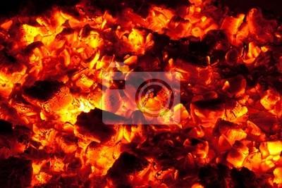 arder la textura de carbón