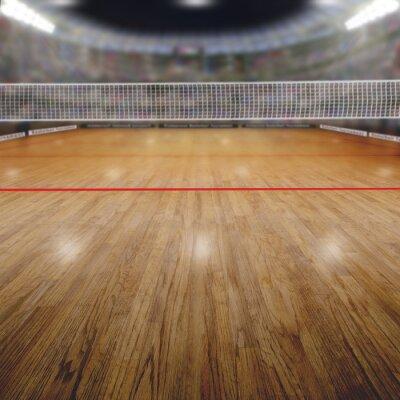Cuadro Arena de voleibol con espectadores y espacio de copia