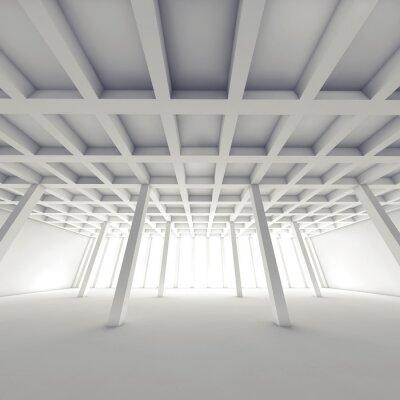 Cuadro Arquitectura abstracta, habitación blanca vacía 3 d