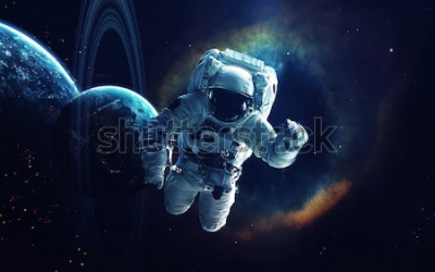 Cuadro Arte cósmico, fondo de pantalla de ciencia ficción. La belleza del espacio profundo. Miles de millones de galaxias en el universo. Elementos de esta imagen proporcionada por la NASA.