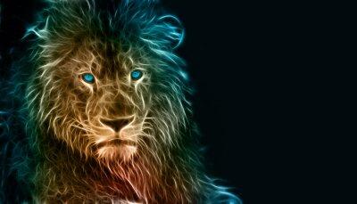 Cuadro Arte digital de la fantasía de un león