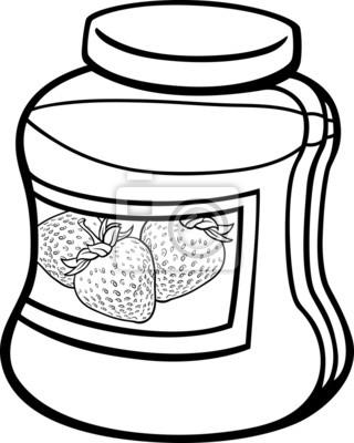 Atasco en página para colorear de dibujos animados jar pinturas para ...