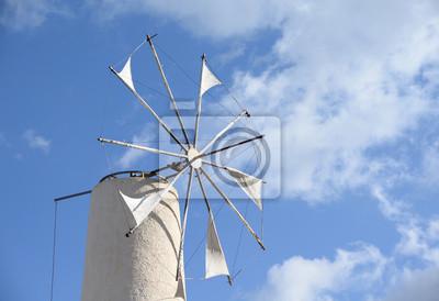 Auf der Windmühle Lassithi-Hochebene, Creta
