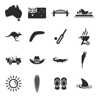 Cuadro Australia Icons