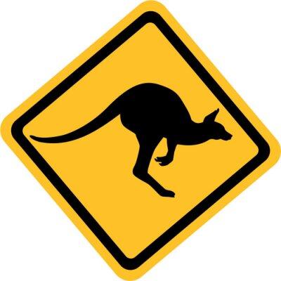 Cuadro Australia señal de canguro