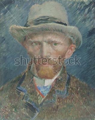 Cuadro Autorretrato, de Vincent van Gogh, 1887, pintura al óleo holandesa. Se retrató a sí mismo aquí como un parisino a la moda.