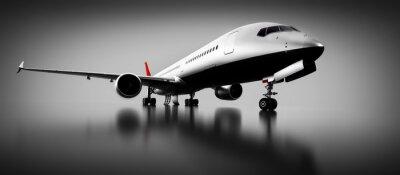 Cuadro Avión de pasajeros en estudio o hangar. Aeronaves, líneas aéreas