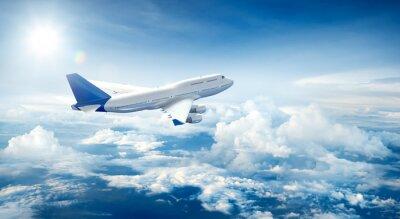 Cuadro Avión, vuelo, por encima, nubes