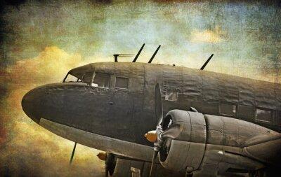 Cuadro Aviones militares Antiguo, fondo del grunge