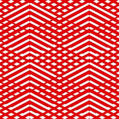 Cuadro Azulejos patrón rojo y blanco vector de fondo o fondo de pantalla