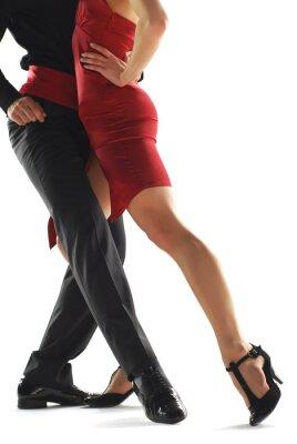 Cuadro bailarines de tango elegnace