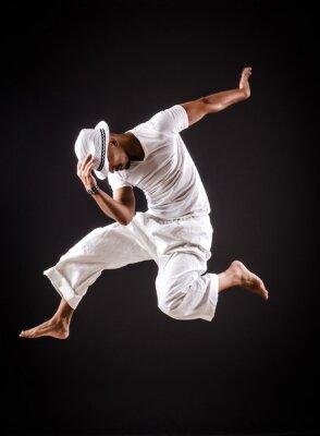 Cuadro Bailes de danza del bailarín en la ropa blanca