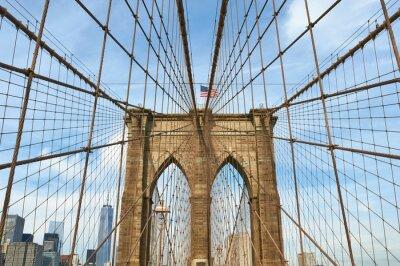 Cuadro Baja vista del horizonte de Manhattan desde Brooklyn