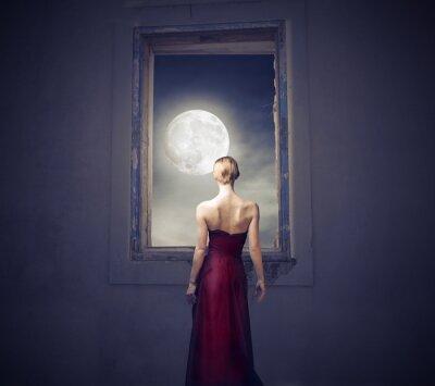 Cuadro Bajo la luz de la luna