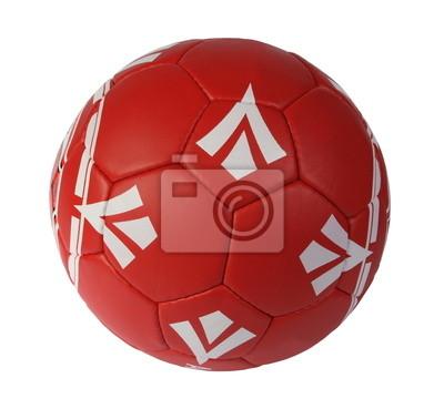 Balón de fútbol de color rojo sobre un fondo blanco pinturas para la ... ff273d95d9a02