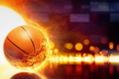 Cuadro Baloncesto ardiente