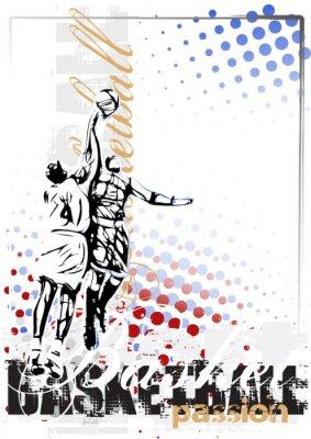 Cuadro baloncesto de fondo del cartel del vector