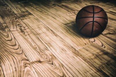 Cuadro Baloncesto en la madera dura 2