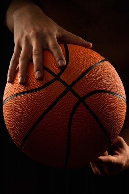 Cuadro Baloncesto, pelota, macho, manos