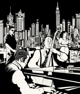 Cuadro Banda de jazz en Nueva York