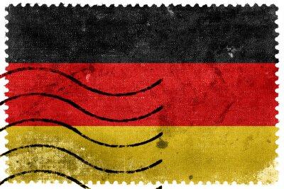 Cuadro Bandera de Alemania - antiguo sello postal