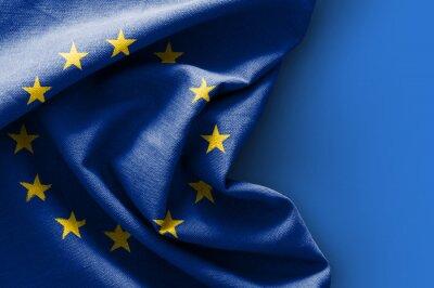 Cuadro Bandera de Europa sobre fondo azul