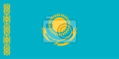 Bandera de la República de Kazajstán