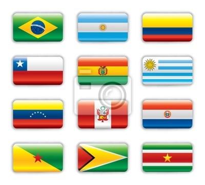 las banderas de sudamerica con sus nombres