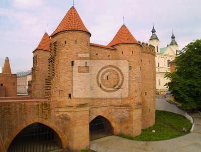 Barbakan en Varsovia, Polonia