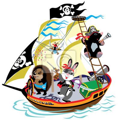 Dibujo Barco Pirata