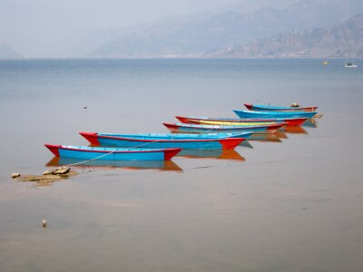 Cuadro Barcos en el lago Fewa