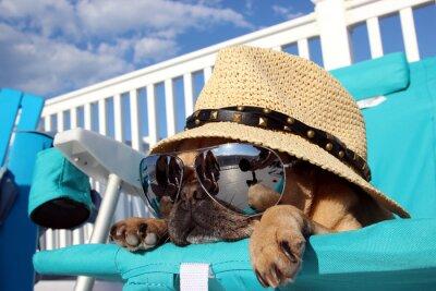 Cuadro Barro amasado de relajación en la silla de playa