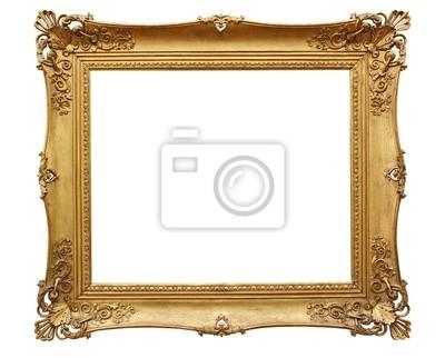 Barroco marco de oro en fondo blanco pinturas para la pared ...