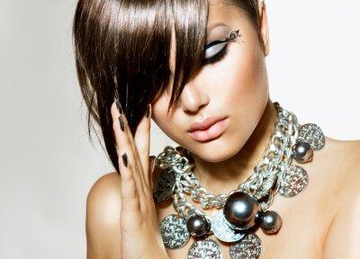 Cuadro Beauty Girl Fashion Glamour peinado con estilo y maquillaje