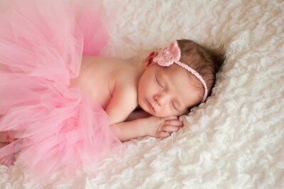 Cuadro Bebé recién nacido que llevaba un tutú rosa