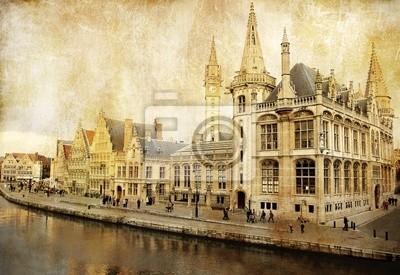 Bélgica - Gante - imagen de estilo retro