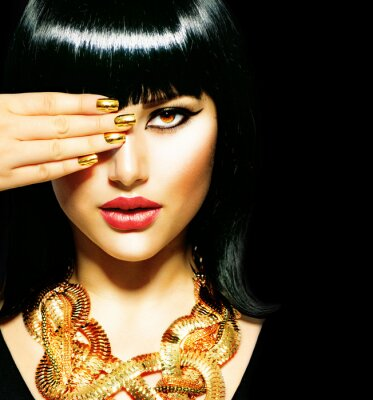 Cuadro Belleza morena egipcia Woman.Golden Accesorios