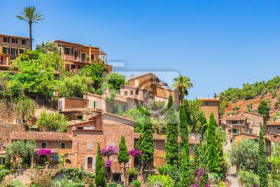 Berg Dorf Mediterráneo Häuser Spanien Mallorca Valldemossa