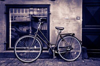 Cuadro Bicicleta retro de la vendimia clásica de la ciudad de Copenhague, Dinamarca