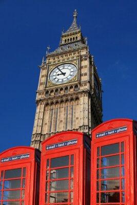 Cuadro Big Ben con cabinas telefónicas, Londres, Reino Unido
