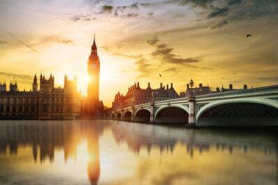 Cuadro Big Ben y las Cámaras del Parlamento