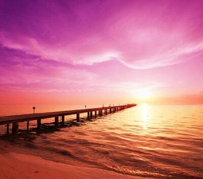Cuadro Boardwalk en la playa