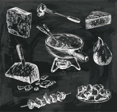 Cuadro Bocadillos de fondue de queso