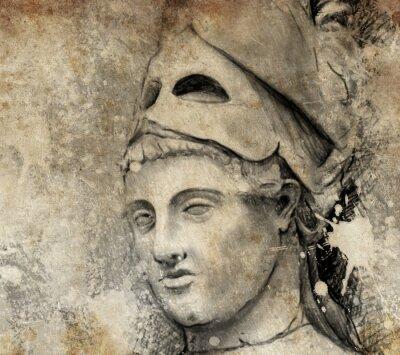 Cuadro Boceto hecho con la tableta digital de Pericles generales