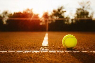 Cuadro Bola en una cancha de tenis