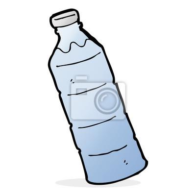 Cuadro Botella De Agua De Dibujos Animados