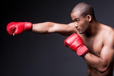 Cuadro Boxeo del hombre.