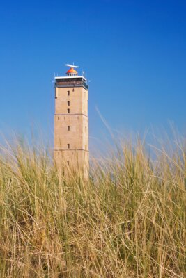Brandaris lighthouse on the island of Terschelling in The Netherlands
