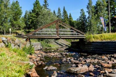 bridge in the park, in Norway Scandinavia North Europe , taken in nordkapp, europe